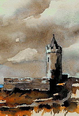 Connaught Painting - Doonagore Castle  Doolin  Clare by Val Byrne