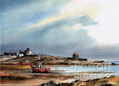 Connaught Painting - Doonbeg Silver Strand  Clare by Val Byrne