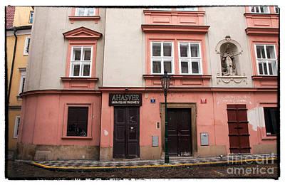 Door Choices In Prague Print by John Rizzuto