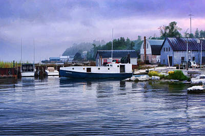 Lake Michigan Painting - Door County Gills Rock Fishing Village by Christopher Arndt
