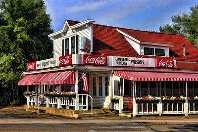 Route 66 Painting - Door County Wilson's Ice Cream Store by Christopher Arndt