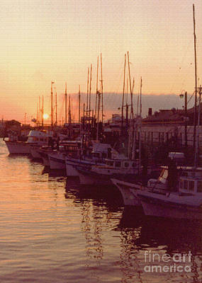 Door County Wisconsin Egg Harbor Sunset 1981 Print by ImagesAsArt Photos And Graphics