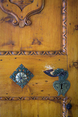Hardware Photograph - Door Hardware At Entry To Sant Jakob by Brian Jannsen