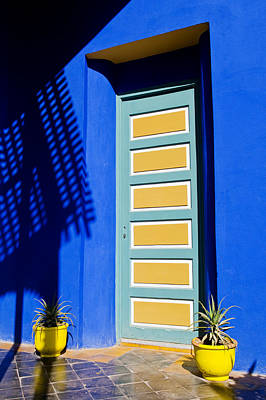 Door In A Blue Wall Print by Mick House