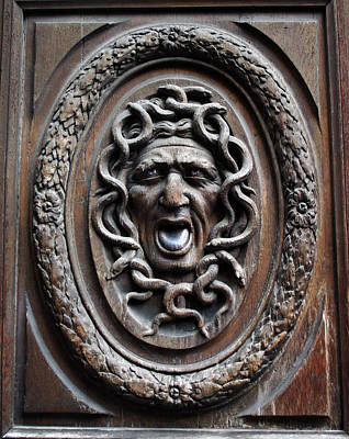 Photograph - Door In Paris Medusa by A Morddel