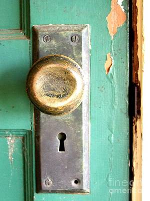 Door Knob  No 2 Print by Mary Deal