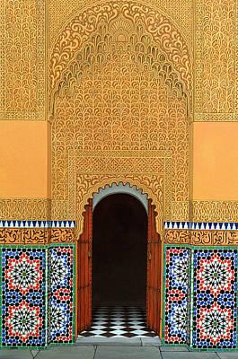 Mosaic Photograph - Door, Marrakech, 1998 Acrylic On Linen by Larry Smart