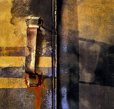 Doors And Handle Print by Murray Bloom