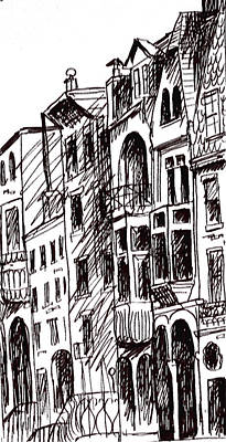 Philadelphia Scene Drawing - Doors And Windows by Deborah Dendler