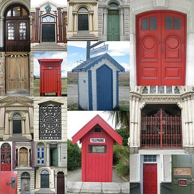 doors in New Zealand Print by Cathy Jacobs