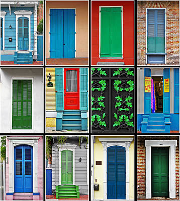 Urban Scenes Photograph - Doors New Orleans by Christine Till