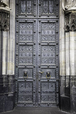 Doors Of Cologne 04 Print by Teresa Mucha
