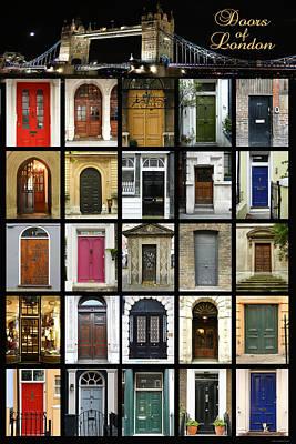 Doors Of London II Print by Heidi Hermes