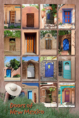 Doors Of New Mexico II Print by Heidi Hermes