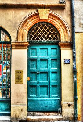 Lyon France Photograph - Doors Of Old Lyon by Mel Steinhauer