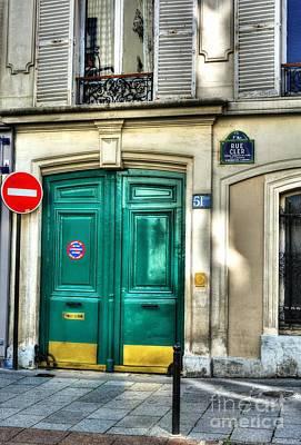 Doors Of Rue Cler Print by Mel Steinhauer