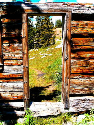 Doorway At The Wild Irishman Print by Jeff Eberle