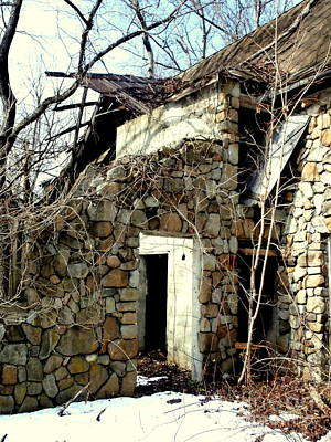 Stone Barn Photograph - Doorway Back Through Time by Janine Riley