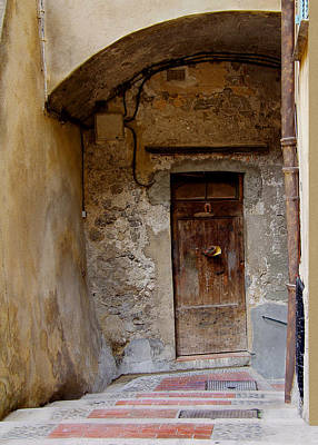 Menton Photograph - Doorway Menton France by Ellen Zaslaw