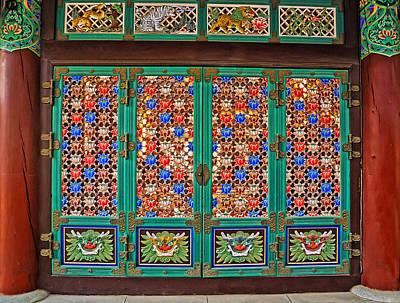 Doorway To The Dharma King Pavilion Print by Tony Crehan