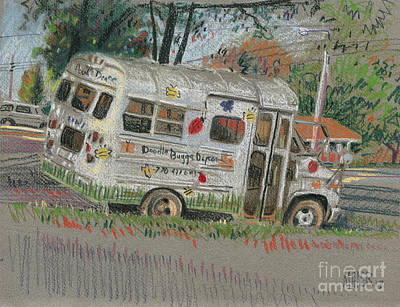 School Bus Painting - Doodlebugs Bus by Donald Maier