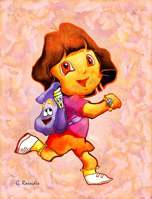 Animation Painting - Dora The Explorer by George Rossidis