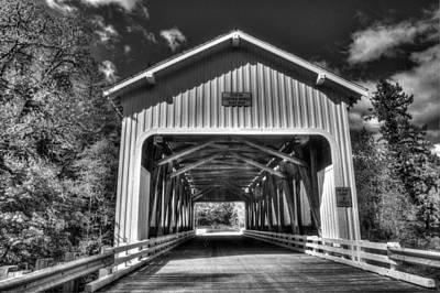 Oregon Photograph - Dorena Covered Bridge 1949 by Thom Zehrfeld
