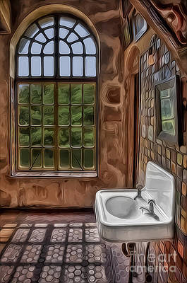 Dormer And Bathroom Print by Susan Candelario