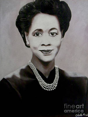 Civil Rights Painting - Dorothy Height by Chelle Brantley