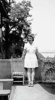 Gathering Photograph - Dorothy Wrinch by American Philosophical Society