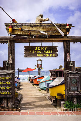 Old West Photograph - Dory Fishing Fleet Market Newport Beach California by Paul Velgos