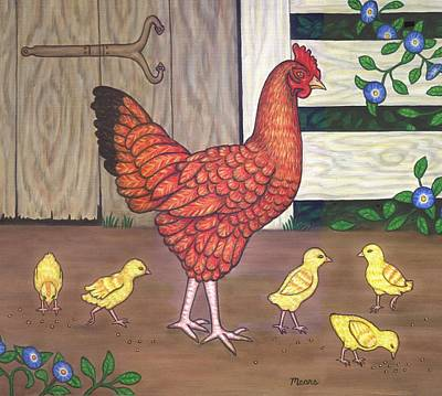 Baby Painting - Dottie The Chicken by Linda Mears
