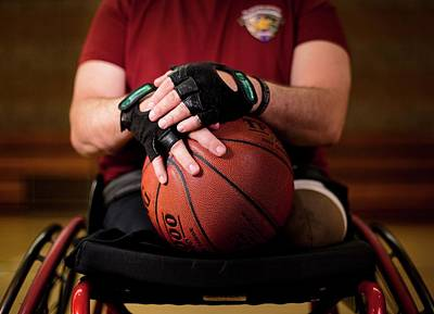 Disabled Sports Photograph - Double Amputee Basketball Athlete by Us Air Force/mark Fayloga