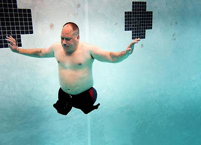 Human Limb Photograph - Double Amputee Swimmer by Us Air Force/mark Fayloga