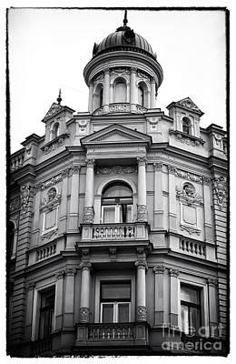 Double Balconies In Prague Print by John Rizzuto