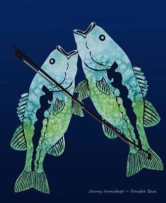 Double Bass Print by Jenny Armitage