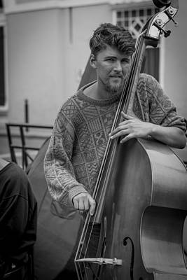 Double Bass Photograph - Double Bass Player by David Morefield