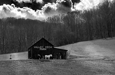 Farms-n-barns Photograph - Double Down Blacknwhite by Randall Branham