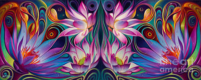 Dynamic Painting - Double Floral Fantasy 2 by Ricardo Chavez-Mendez