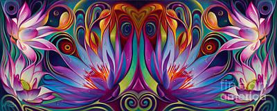 Double Floral Fantasy Original by Ricardo Chavez-Mendez