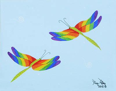 Double Rainbow 1 Print by Doug Miller
