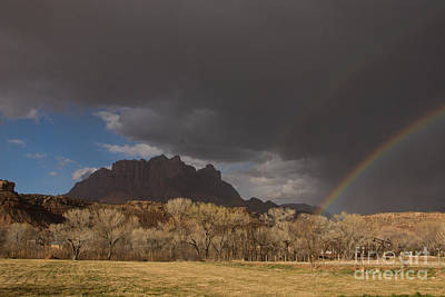 Double Rainbow Over Rockville Utah Print by Robert Ford
