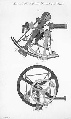 Double Sextant And Double Circle Print by Royal Astronomical Society