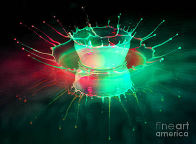 Abstract Forms Photograph - Double Splash by Jaroslaw Blaminsky