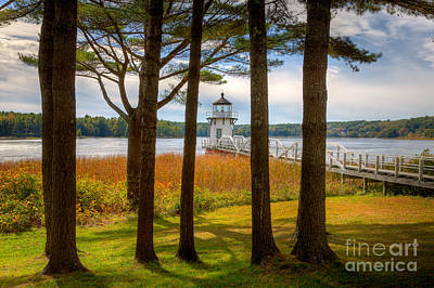 Lighthouse Photograph - Doubling Point Light I by Clarence Holmes