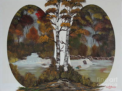 Bob Ross Painting - Doubling The Autumn Splendor by Bob Williams
