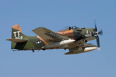 Airshows Photograph - Douglas Ad-4 Skyraider by Adam Romanowicz