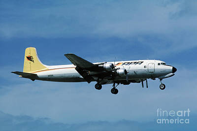 Fixed Wing Multi Engine Photograph - Douglas Dc-6bf  Landing  N95bl Apa by Wernher Krutein