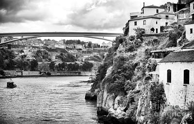 House On The Hill Photograph - Douro River Landscape by John Rizzuto