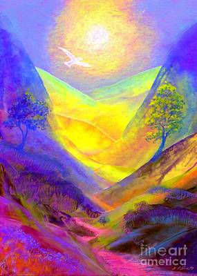 Mystical Painting - Dove Valley by Jane Small